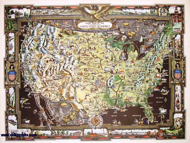 Story Map of the United States of America - Colortext Publications