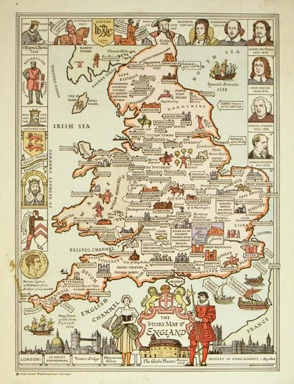 The Story Map of England published by Colortext