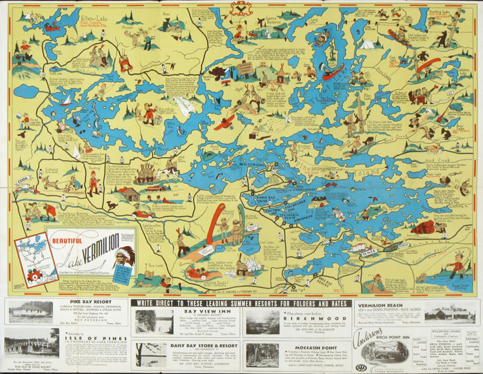 The pictorial maps of frank m antoncich for Lake vermilion fishing