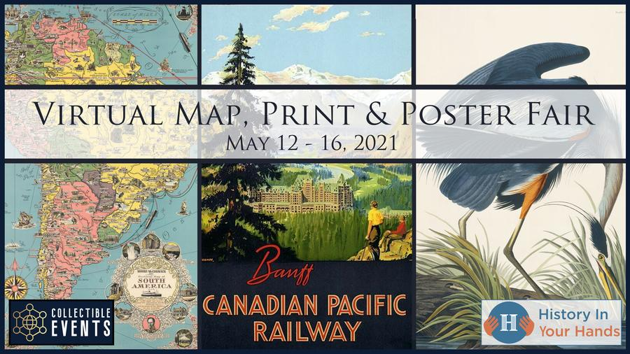 Virtual Map, Print & Poster Fair at Collectible Events