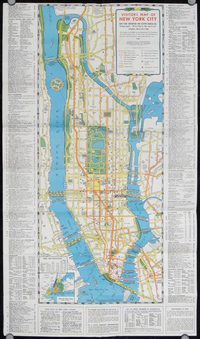 Visitors Guide and Map of New York The Greatest AllYearRound