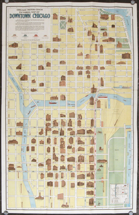 Pictorial Map And Guide To Chicago Map Titles Chicago Motor - Downtown chicago map pdf