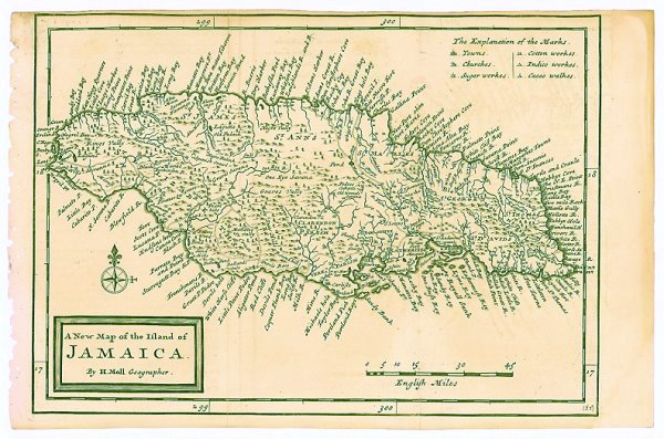 A New Map of the Island of Jamaica   WEST INDIES - JAMAICA