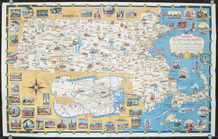 a world of fun and relaxation massachusetts the historic vacationland a travel map to