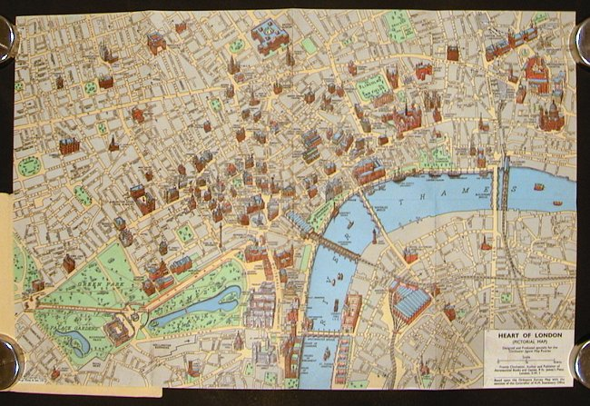 Heart Of London A Coloured Picture Map Of The Heart Of