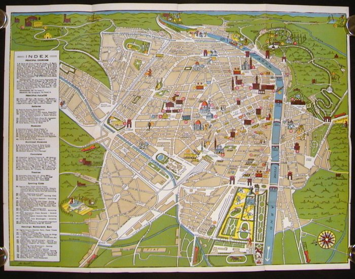 Untitled pictographic map of Florence ITALY FLORENCE