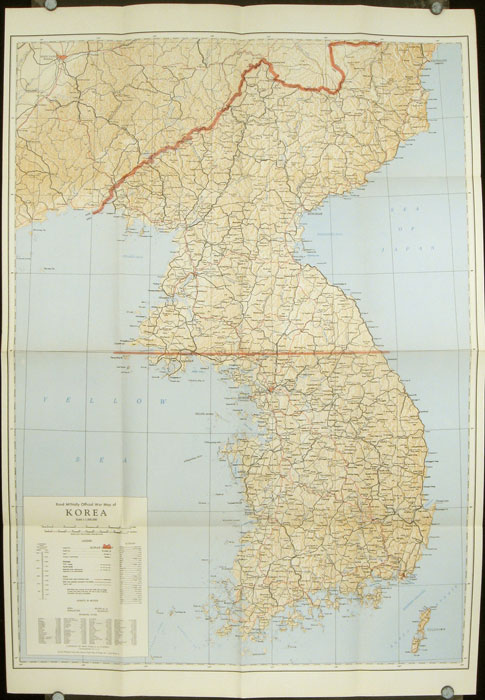 Rand McNally Official War Map Of Korea KOREA - Rand mcnally online maps