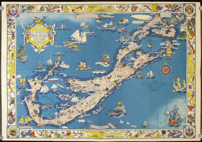 A Map Of The Bermuda Islands BERMUDA - Bermuda islands map