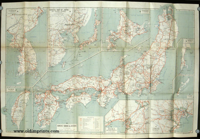 Travellers Sic Travelers Map Of Japan JAPAN KOREA TAIWAN - Japan map korea