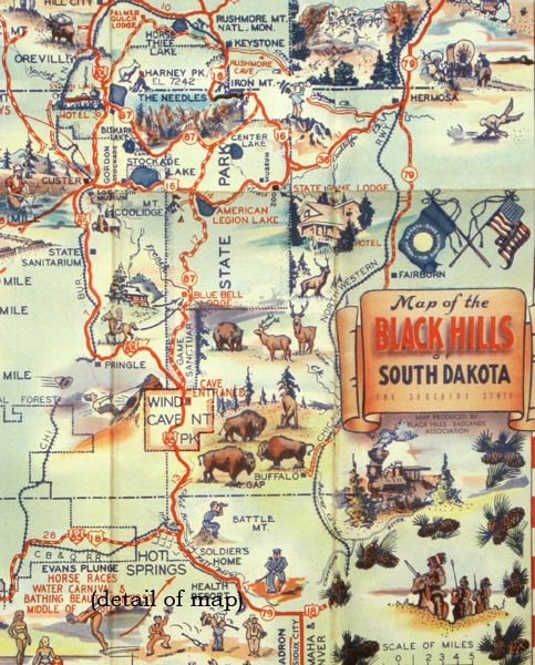 Map Of The Black Hills Of South Dakota The Sunshine State SOUTH - Map of south dakota