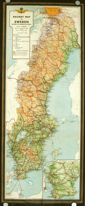 See Sweden by The Swedish State Railways. Map title: Railway Map of ...