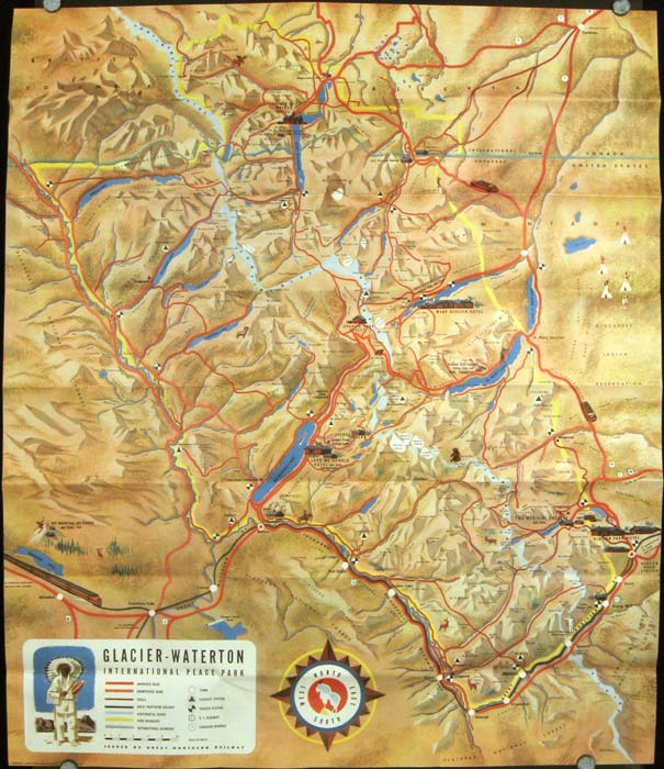 A Great Place To Go Glacier National Park In The Montana - Map of western montana