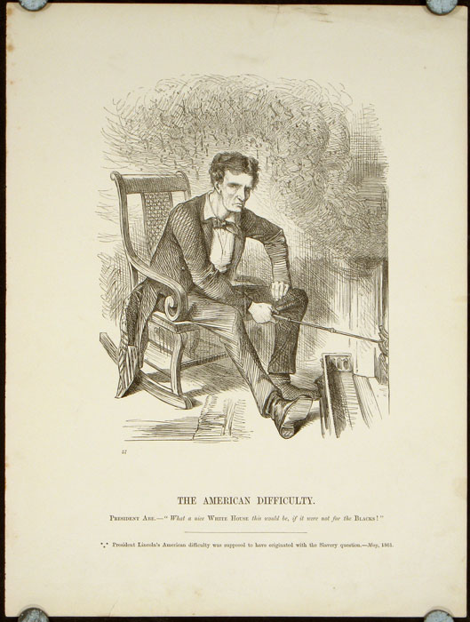 The American Difficulty Abraham Political Cartoon Lincoln
