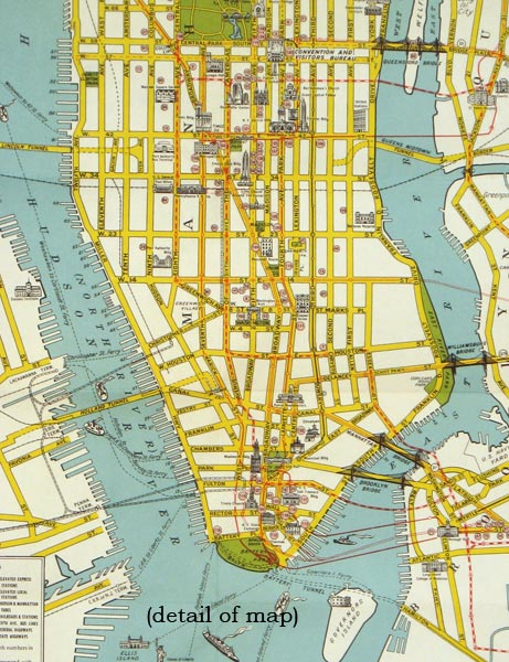 City Map Of New York City.Visitors Guide To New York The Greatest All Year Round Vacation City Map Title Visitors Map Of New York City By New York New York City On
