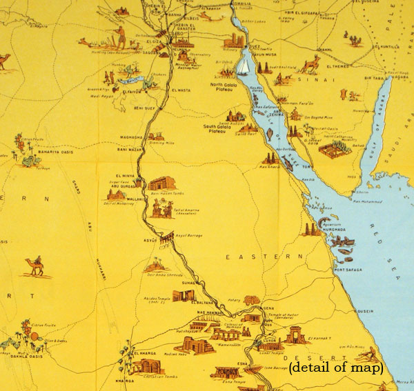 Welcome To Egypt U A R Map Title United Arab Republic A - Natural resources in egypt