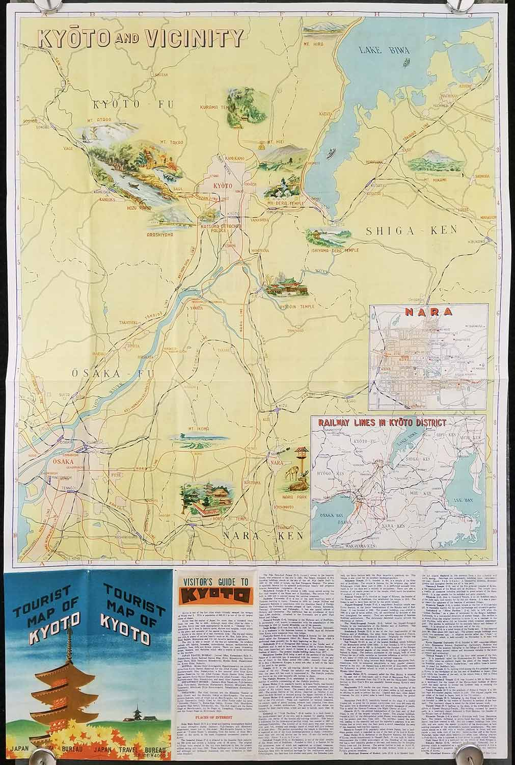 Tourist Map of Kyoto Map titles Kyoto Kyoto and Vicinity JAPAN