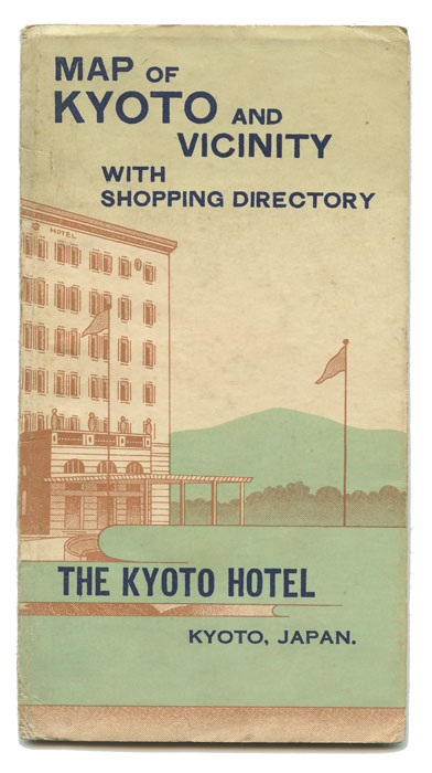 Map Of Kyoto And Vicinity With Shopping Directory The Kyoto Hotel - Japan map poster