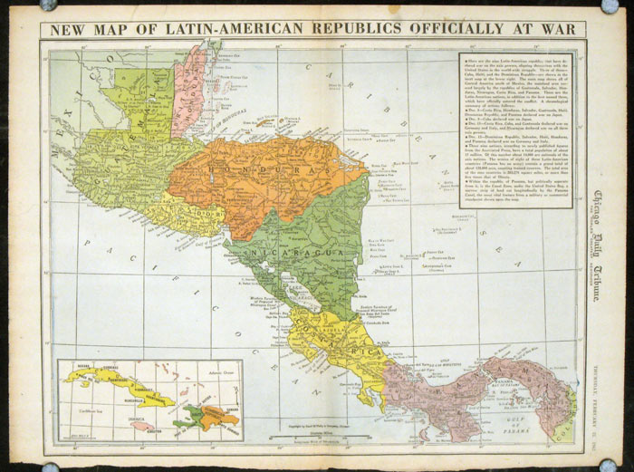 Worksheet. New Map of LatinAmerican Republics Officially At War  CENTRAL