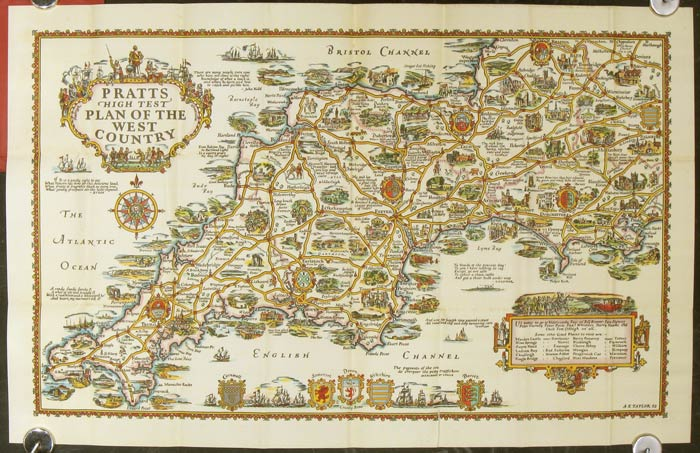 Pratts high test plan of the west country cover title western pratts high test plan of the west country cover title western england in picture gumiabroncs Gallery