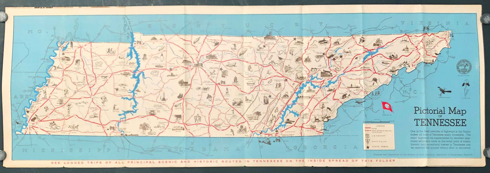 Tourist Guide and Pictorial Map of Tennessee | TENNESSEE