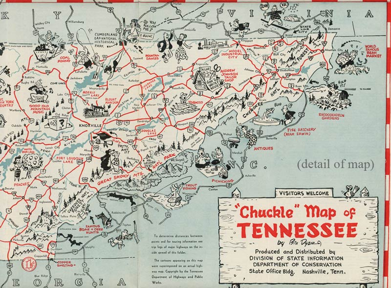 Touring Guide And Chuckle Map Tennessee Americas Most - Tenn map