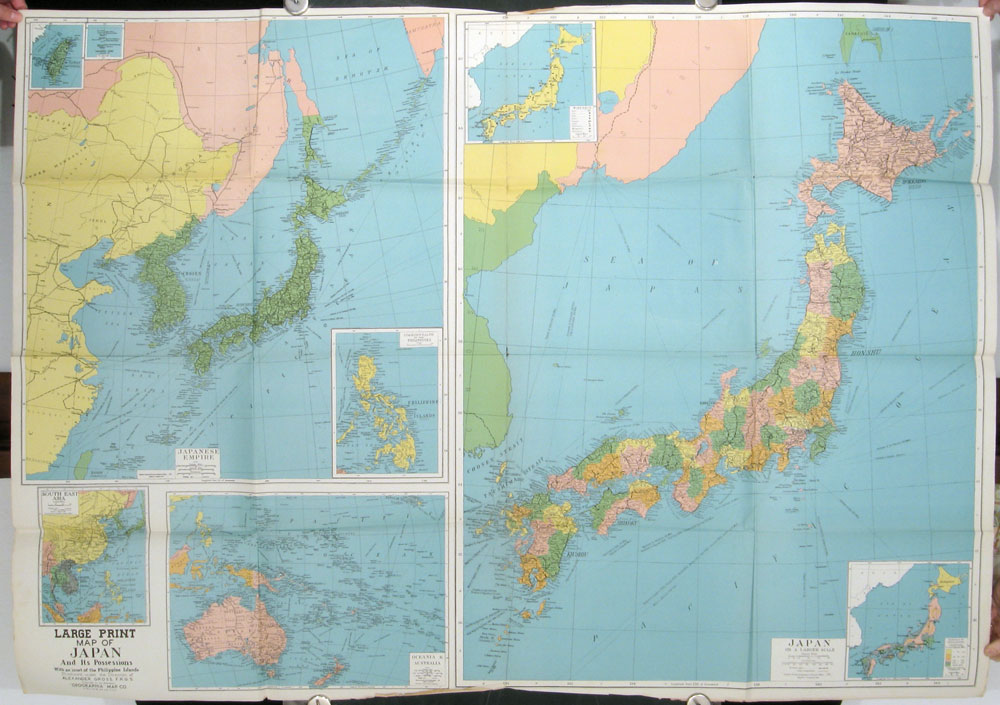 occupation map of japan and adjacent areas including potential us bases in the pacific japan
