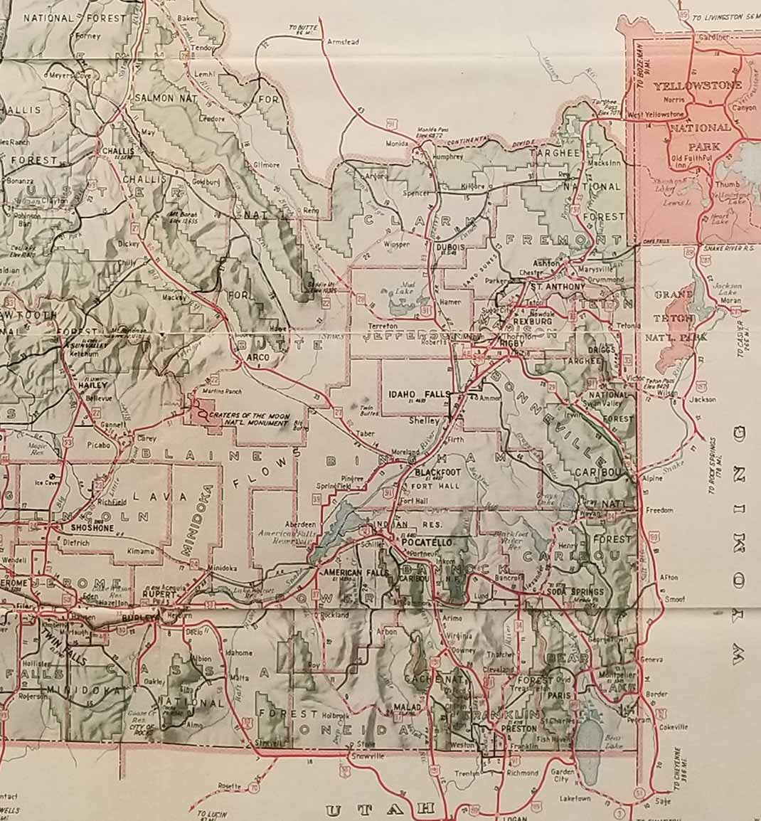 Bureau of Highways Map of the State of Idaho Showing State Highways on idaho road map atlas, idaho and wyoming map with cities, idaho us highway 12, idaho us map with red, idaho terrain maps, detailed idaho road map, western idaho road map, idaho map with miles, salmon river idaho map, tcu road map, idaho road map back, northern iowa road map, idaho highway map, idaho wyoming road map, central washington road map, idaho craters of the moon map, rv parks by state map, elk city idaho area map, idaho district 18b map, all of idaho cities map,
