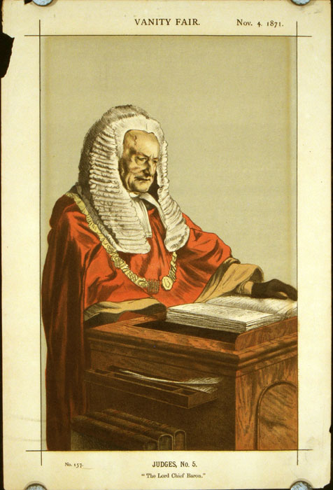 "Judges, No. 5. ""The Lord Chief Baron."" LEGAL - RED ROBE JUDGES."