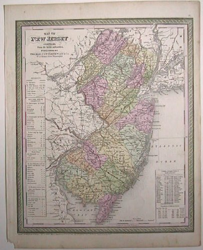Map of New Jersey. Compiled From the Latest Authorities. NEW JERSEY.