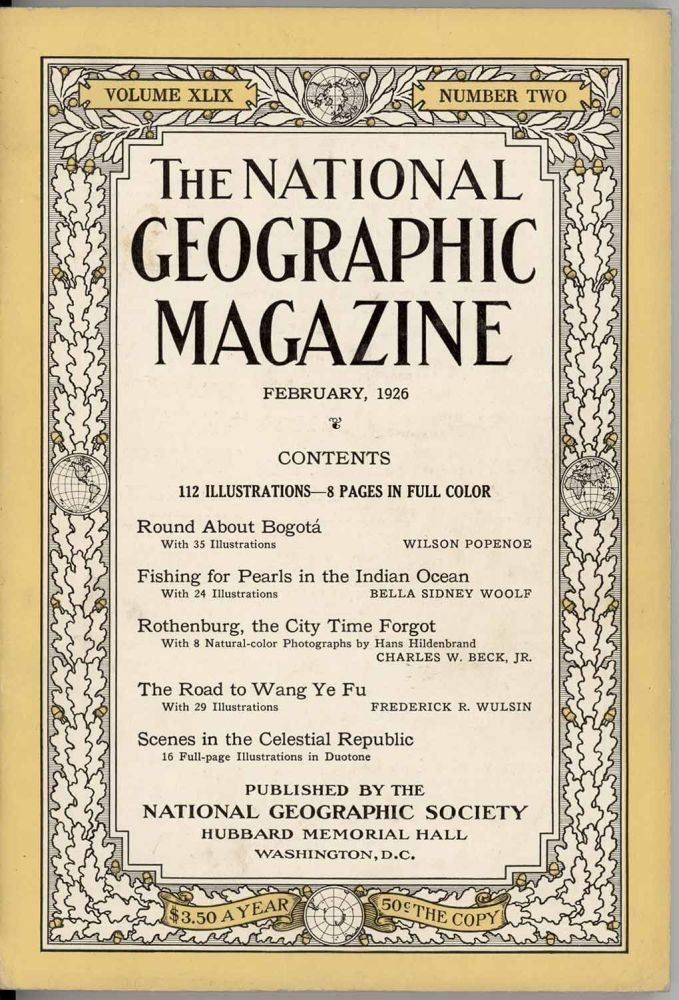 The National Geographic Magazine. 1926 - 02. CHINA - CENTRAL ASIA.