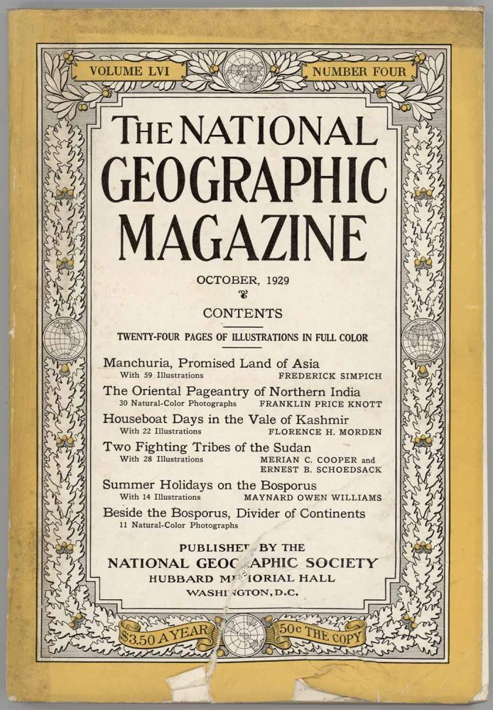 The National Geographic Magazine. 1929 - 10. MANCHURIA / INDIA.