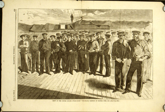 """Crew of the United States Steam-Sloop """"Colorado,"""" Shipped at Boston, June, 1861. -13."""