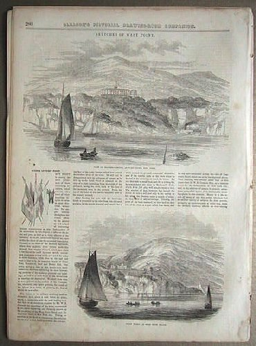 Scenes at West Point in COMPLETE ISSUE of Gleason's Pictorial Drawing-Room Companion. WEST POINT.