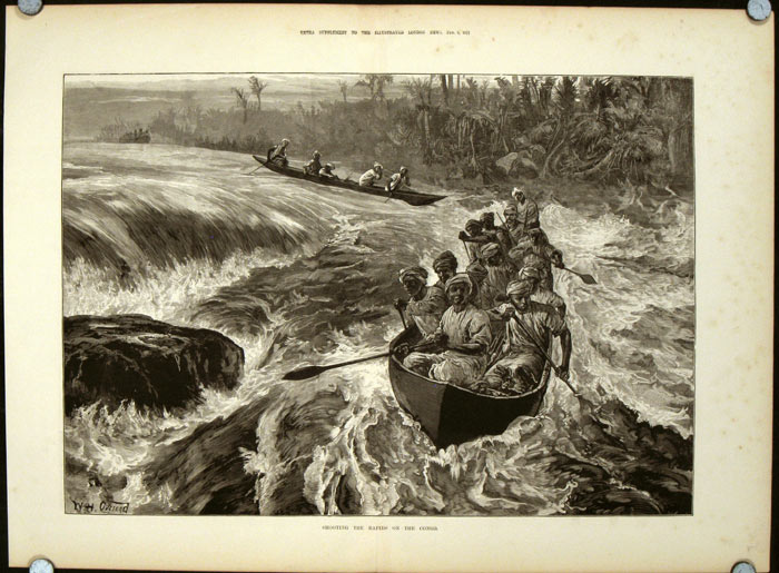 Shooting the Rapids on the Congo. CONGO - CANOEING.