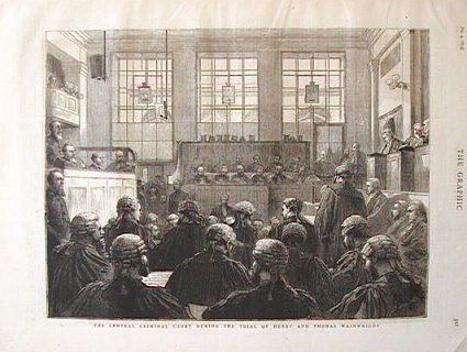 The Central Criminal Court During the Trial of Henry and Thomas Wainwright. CRIMINAL TRIALS.