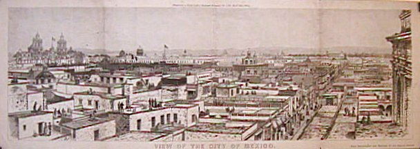 View of the City of Mexico. MEXICO - MEXICO CITY - BIRD'S EYE VIEW.