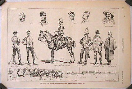 Sketches of the Canadian Mounted Police. POLICE - CANADA.
