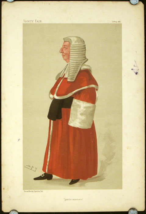 """""""gentle manners."""" LEGAL - RED ROBE JUDGES."""