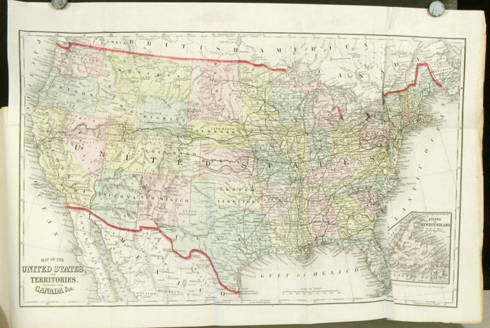 An Illustrated History of the Great Republic: Being a Full and Complete History of the American Union, from its earliest Settlement Down to the Present Time; . . . Including also Complete and Accurate Descriptions . . . Of Each state and Territory. HANDCOLORED MAP OF THE UNITED STATES, Jas. D. Jr M'Cabe.