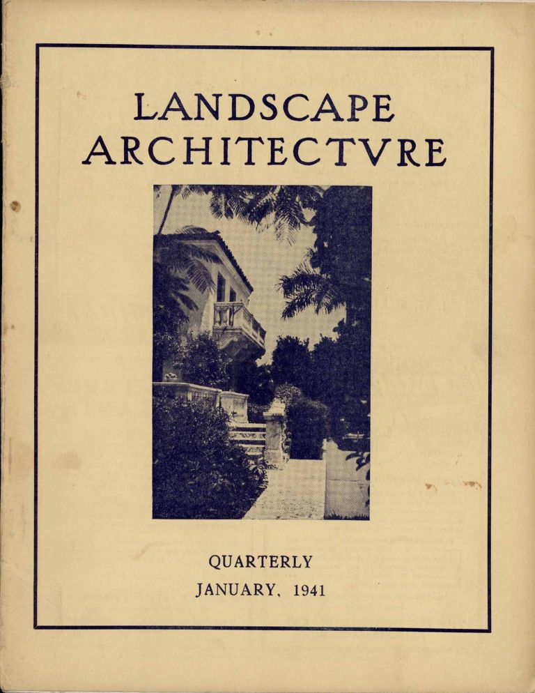 Landscape Architecture. January 1941. A Quarterly Magazine. Estate, Garden and Park Planning - Town and Country Planning - Land Subdivision. WASHINGTON - MOUNT RAINIER, J. Haslett Bell.