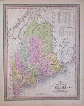 A New Map of Maine. MAINE.