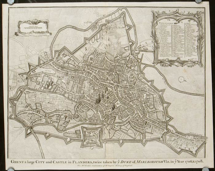 Ghent a large City and Castle in Flanders, twice taken by y Duke of Marlborough Viz. In y Year 1706, & 1708. BELGIUM - GHENT.
