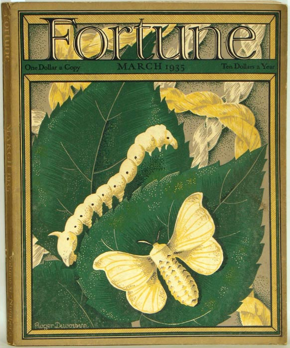 Fortune Magazine. 1935 - 03. (March). MANUFACTURING - CEMENT / SILK IN JAPAN.