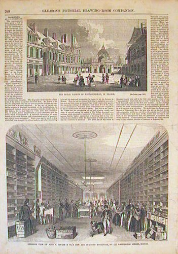 Interior View of John P. Jewett & Co.'s New and Spacious Bookstore, No. 117 Washington Street, Boston. BOSTON - BOOKSTORE.