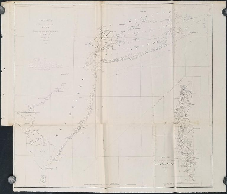 Sketch B Showing the progress of the Survey in Section No. II. [WITH LONG ISLAND, DELAWARE BAY NORTH]. LONG ISLAND - NEW JERSEY - NEW YORK - COASTAL SURVEY.