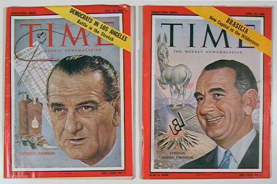 Time The Weekly Newsmagazine. 1960 - 04 - 25. LYNDON BAINES JOHNSON.