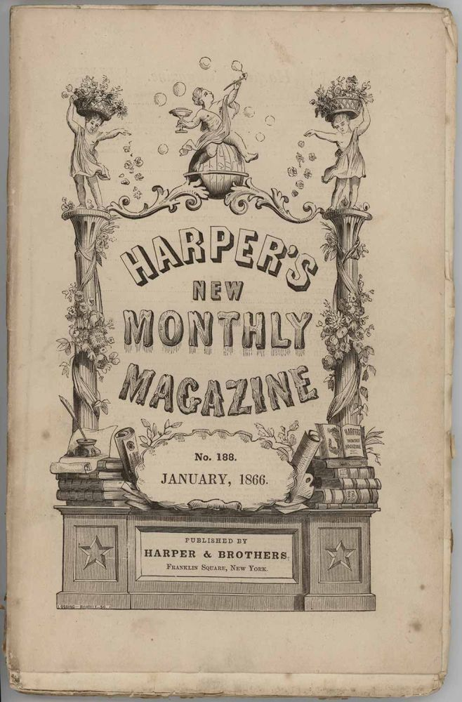 Harper's New Monthly Magazine. January 1866. VINTAGE VICTORIAN MAGAZINE - PACIFIC RAILROAD.