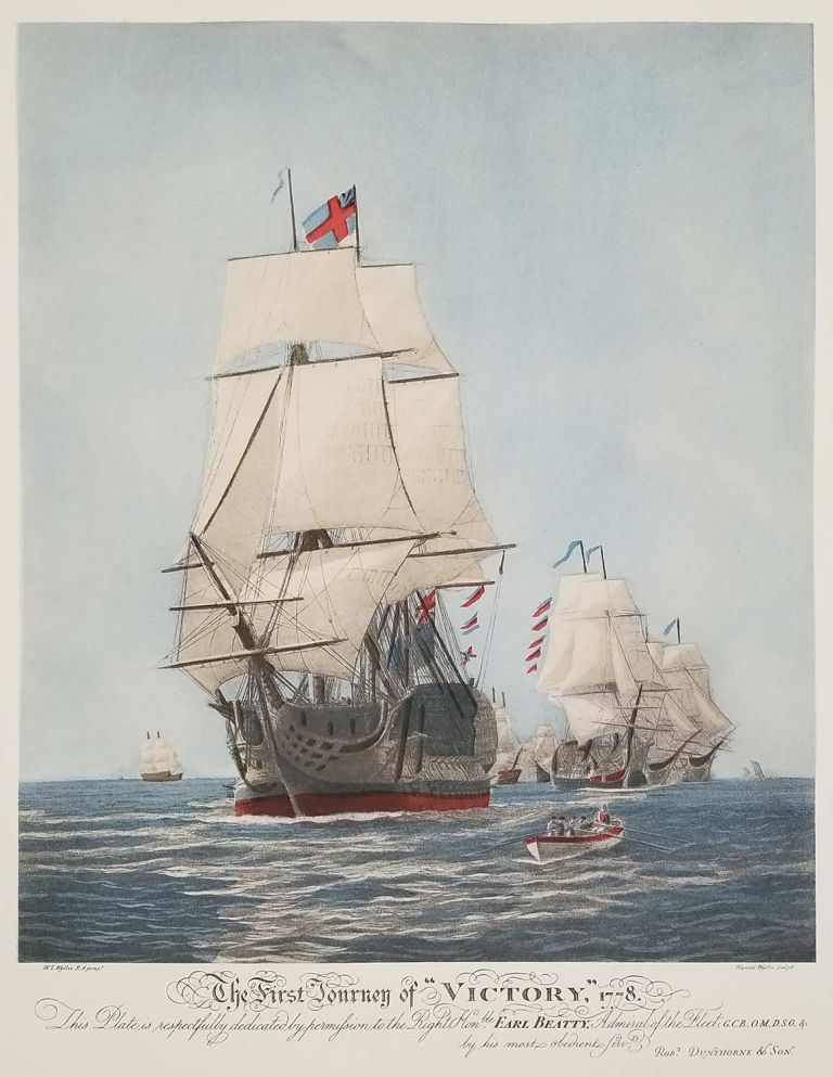 """The First Journey of """"Victory,"""" 1778. SAILING SHIPS."""