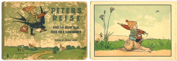 Peters Reise. GERMAN / CHROMOLITHOGRAPHS, Gustav Falke.