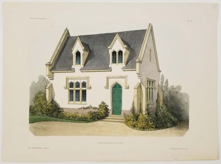 Petite Habitation Anglaise. [Small English-style House]. FRENCH COUNTRY HOMES.